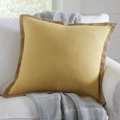 Shayna Jute Trim Pillow Cover Color: Honey