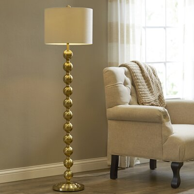 Westerville 58.5 Floor Lamp Finish: Brass