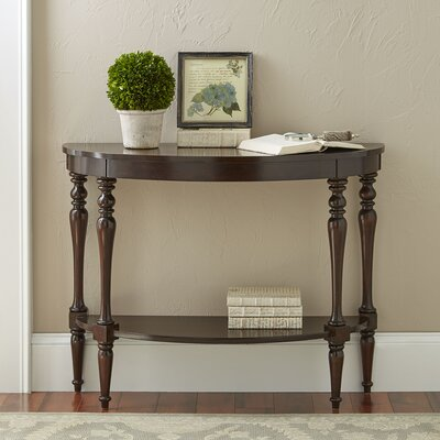 Hassan Demilune Console Table Finish: Mahogany