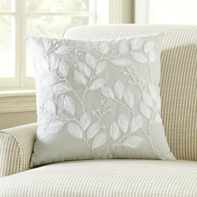 White Leaves Pillow Cover