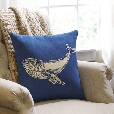 Whale Etching Pillow Cover