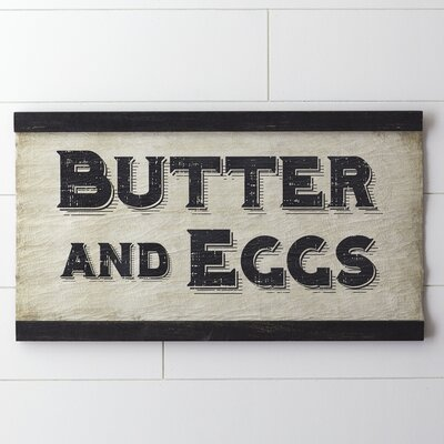 Butter & Eggs Wall Decor