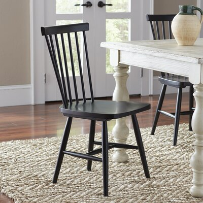 Sowerby Solid Wood Dining Chair (Set of 2) Finish: Black