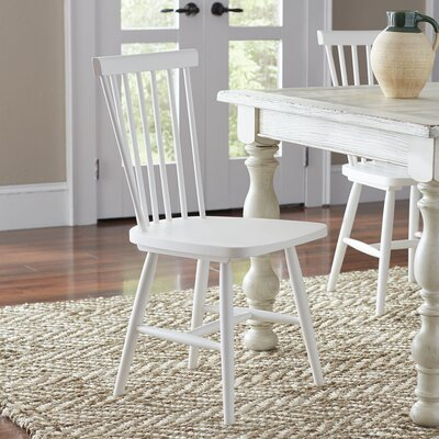 Sowerby Solid Wood Dining Chair (Set of 2) Finish: White