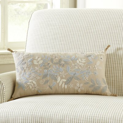 Breezy Flowers Embroidered Pillow Cover