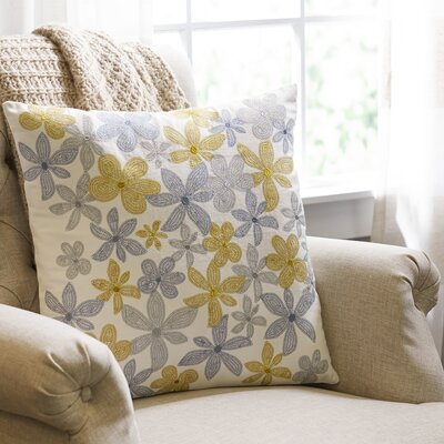 Petunia Embroidered Pillow Cover