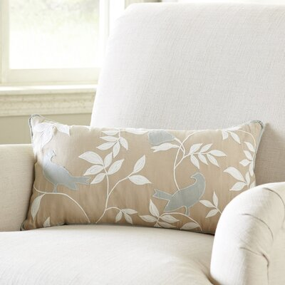 Quiet Birds Lumbar Pillow Cover
