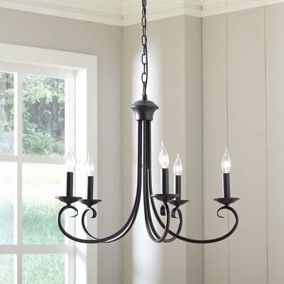 Edgell 5-Light Candle-Style Chandelier Finish: Oil Rubbed Bronze