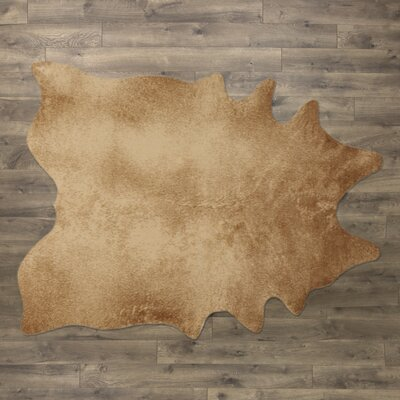 Freya Faux Cowhide Tan Area Rug Size: Novelty 62 x 8