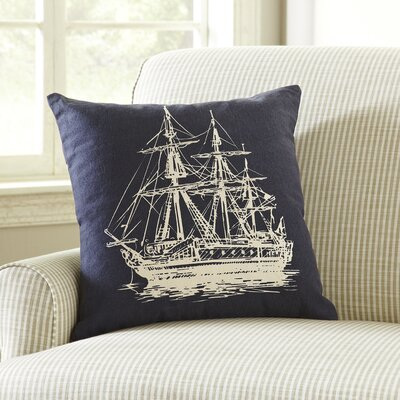 Sailboat Etching Pillow Cover