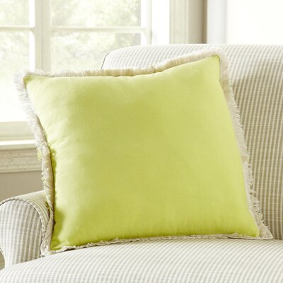 Fringed Pillow Cover Color: Celery Green