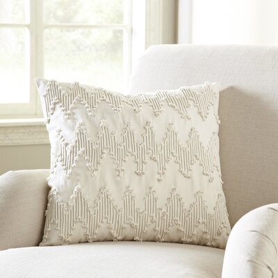 Frosted Chevron Pillow Cover Color: White