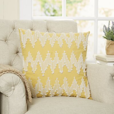 Frosted Chevron Pillow Cover Color: Yellow