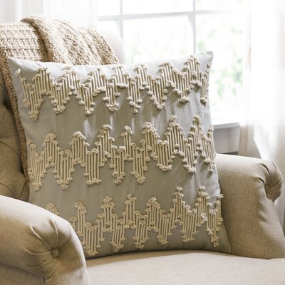 Frosted Chevron Pillow Cover Color: Blue