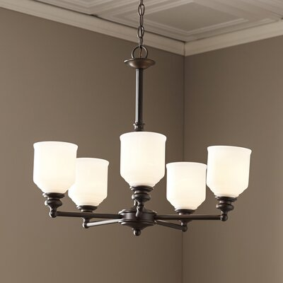 Fanshaw 5-Light Shaded Chandelier Finish: English Bronze
