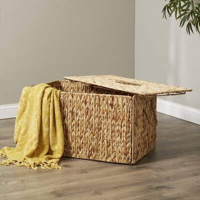 Wicker Storage Trunk Color: Natural, Size: 12.20