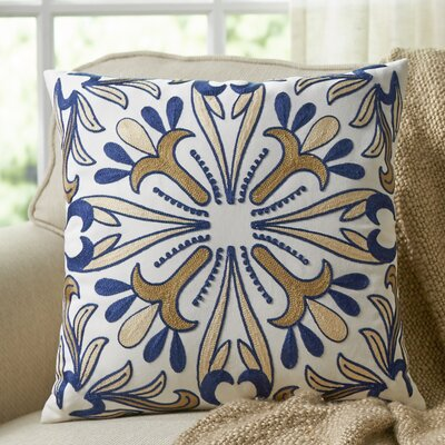 Carla Embroidered Throw Pillow