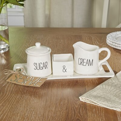 Birch Lane Cafe Cream and Sugar Set