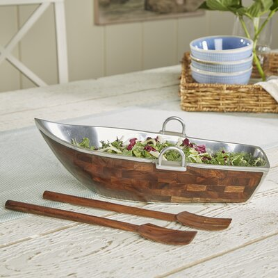 Rowboat Salad Bowl with Servers