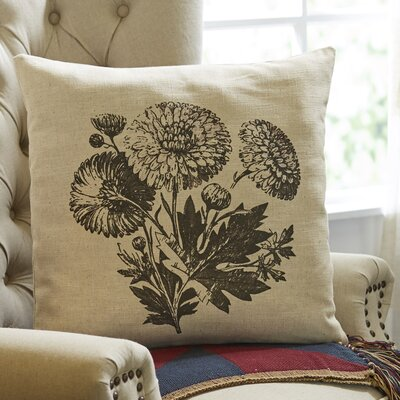 Pen-and-Ink Floral Pillow Cover
