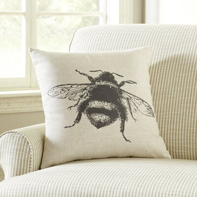 Pen-and-Ink Bee Pillow Cover