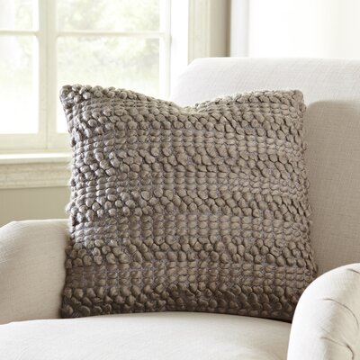 Kaiden Looped Pillow Color: Taupe