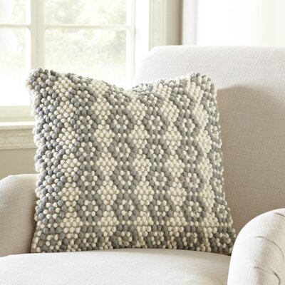 Geo Flower Looped Pillow Cover