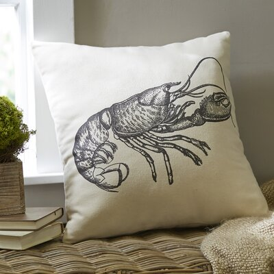Lobster Ivory Denim Pillow Cover