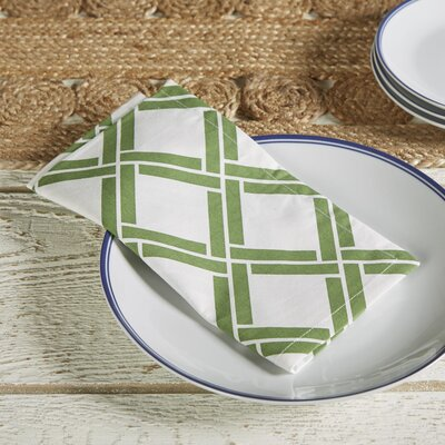 Verdant Bamboo Lattice Napkins