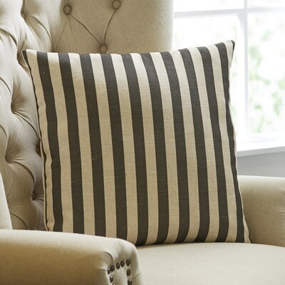 Black and Tan Stripe Pillow Cover