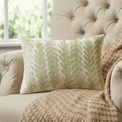 Subdued Sea Green Lumbar Pillow Cover