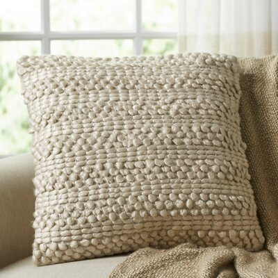 Kaiden Looped Pillow Color: Beige