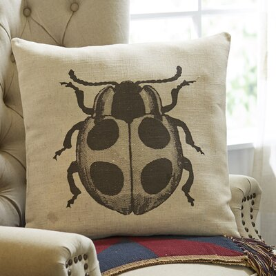 Pen-and-Ink Lady Bug Pillow Cover