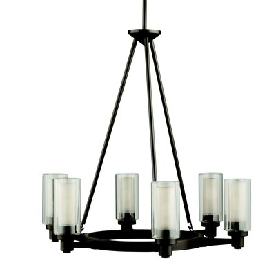 Gramercy 6-Light Candle-Style Chandelier Finish: Olde Bronze