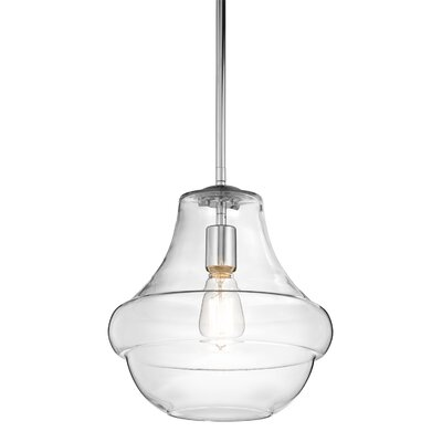 Astoria 1-Light Schoolhouse Pendant Finish: Chrome
