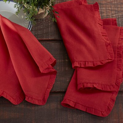 Ruthin Napkins Color: Red