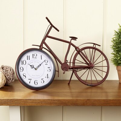 Two-Wheeler Table Clock