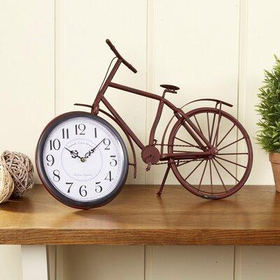 Two-Wheeler Table Clock