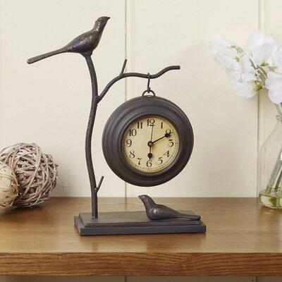 Bird & Branch Iron Table Clock
