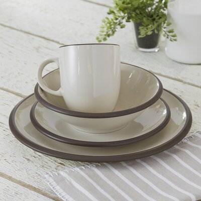 Watmough 16-Piece Dinnerware Set Color: Cream