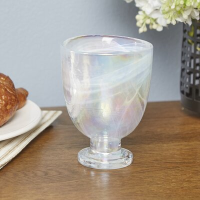 Sedley Water Glass Color: White Pearl