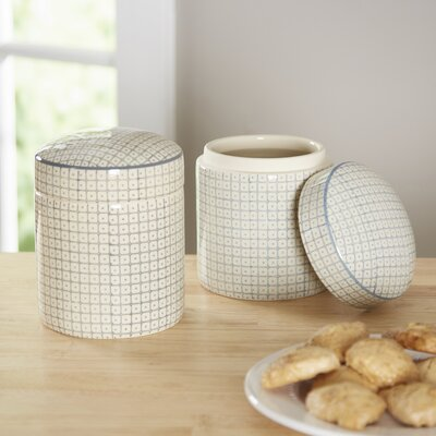 Gertrude 2 Piece Kitchen Canister Set