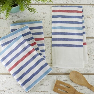 Ryann Striped Kitchen Towel Color: Blue
