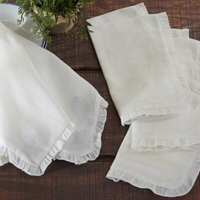 Ruthin Napkins Color: Off-White