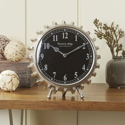 Turning Gears Table Clock