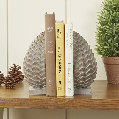 Patina Pinecone Bookends