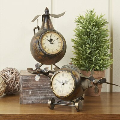 Birch Lane Earhart 2-Piece Clock Set