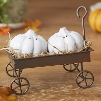 Pumpkin Wagon Salt & Pepper Shaker