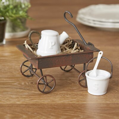 Garden Wagon Salt & Pepper Shakers