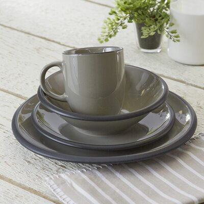 Watmough 16-Piece Dinnerware Set Color: Gray